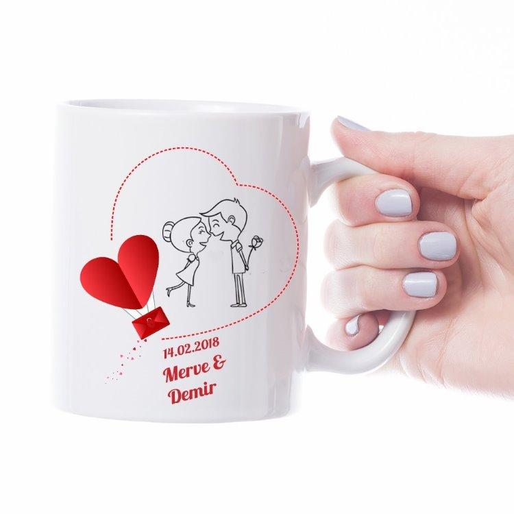 Kişiye Özel 14 Şubat Sevgililer Günü Hediyesi Sevgili Kupası