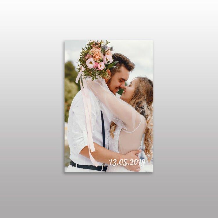 Yeni Evli Çifte Hediyelik Kanvas Tablo