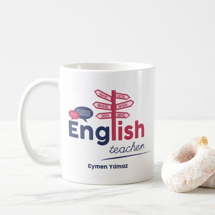 Meslek Hediyesi Kişiye Özel İngilizce Öğretmeni Kupa Baskı