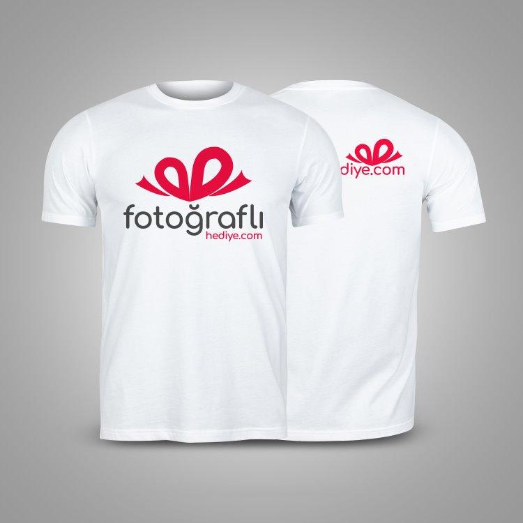 Toptan Arkalı Önlü Firma Logolu Bay Bayan Promosyon Tişört