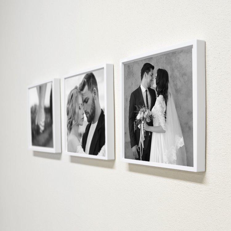 Sök Tak Kare Çerçeve Siyah Beyaz Full Frame (3 Adet)
