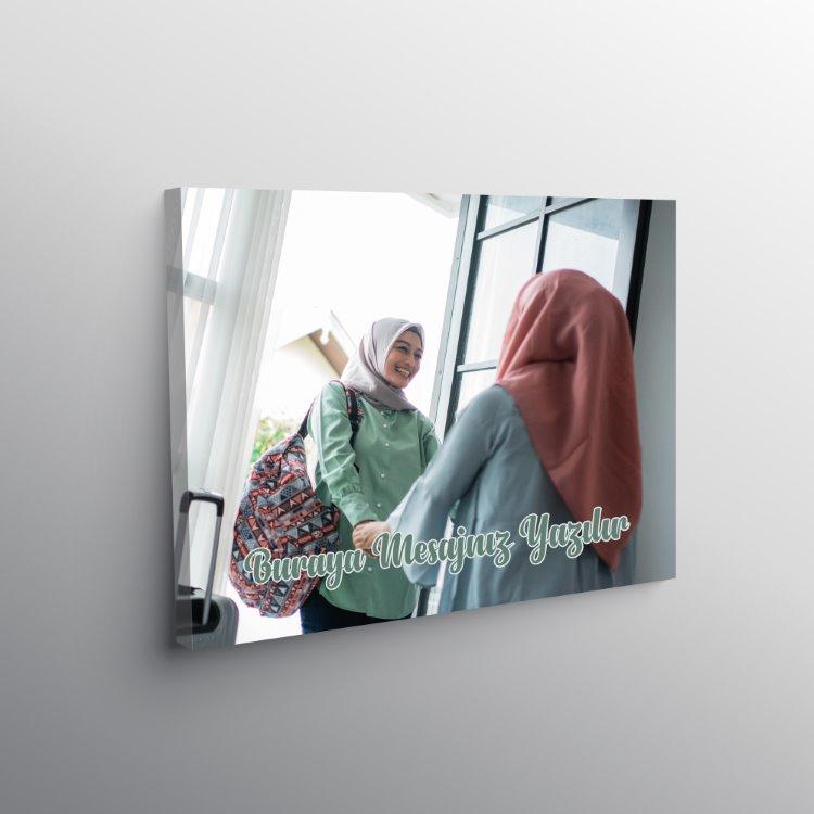 Arkadaşa Hediye Mesajlı Fotoğraflı Full Hd Kanvas Tablo