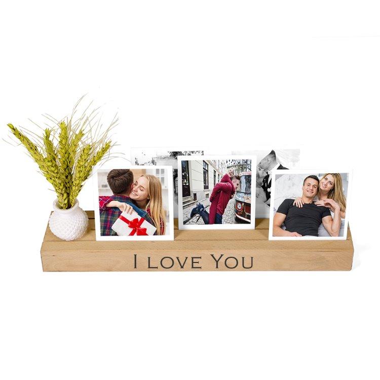 Sevgiliye Hediye Masaüstü  Anı Çerçevesi I Love You