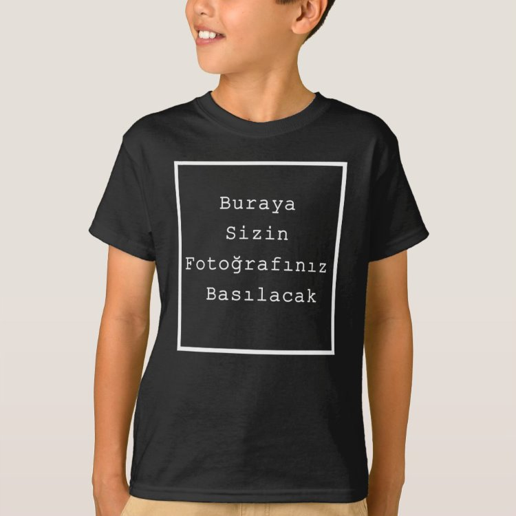 Kişiye Özel Fotoğraf Baskılı Çocuk Tişört