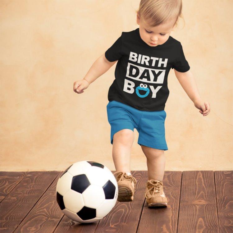 Erkek Çocuk Doğum Günü Hediyesi İsme Özel Siyah Tişört