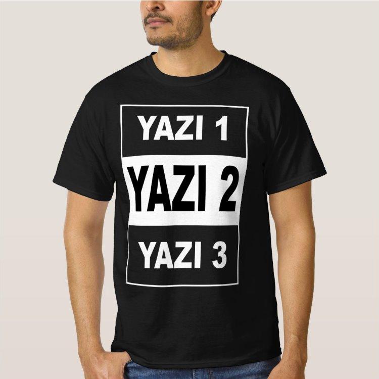 Kişiye Özel 3 Mesajlı Siyah Unisex Tişört