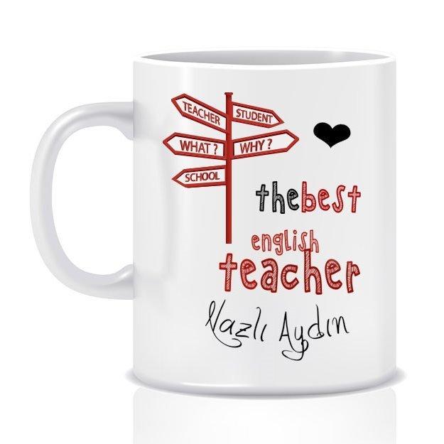 Kişiye Özel Mesleki İngilizce Öğretmeni Beyaz Kupa Bardak